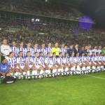 Final de la Copa del Rey. Con José Antonio Peguero (masajista). Recreativo de Huelva-RCD Mallorca. Temporada 2002-03.