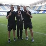 Partido Deportivo de La Coruña-Levante. Temporada 2014-15. Permanencia en 1ª División. Con Lucas Alcaraz (entrenador) y Jesús Cañadas (2º entrenador)