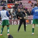 Calentamiento de Partido. FC Barcelona-Levante. Temporada 2014-15. 1ª División
